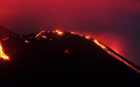 Volcán de Pacaya en Guatemala