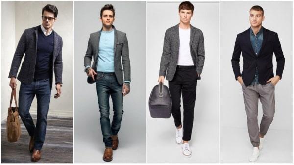 Hombres con sacos sport