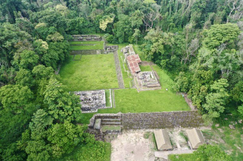 vista del Parque arqueológico de Quiriguá